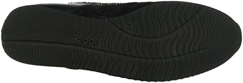Gabor Shoes Comfort Basic - Zapatillas para mujer Negro (schwarz (Strass) 37)
