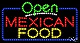 Mexican Food Open LED Sign (High Impact, Energy Efficient)