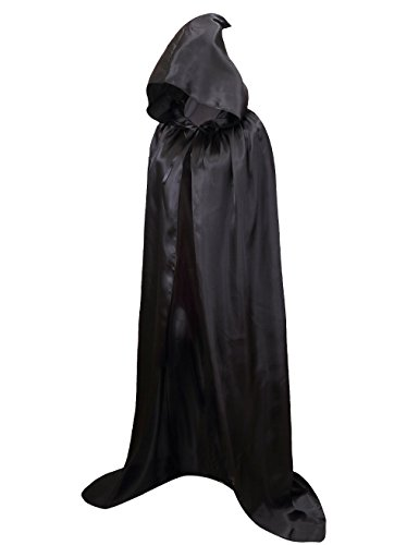 Halloween Vampire Cape (Hamour Unisex Halloween Cape Full Length Hooded Cloak Adult Costume (59