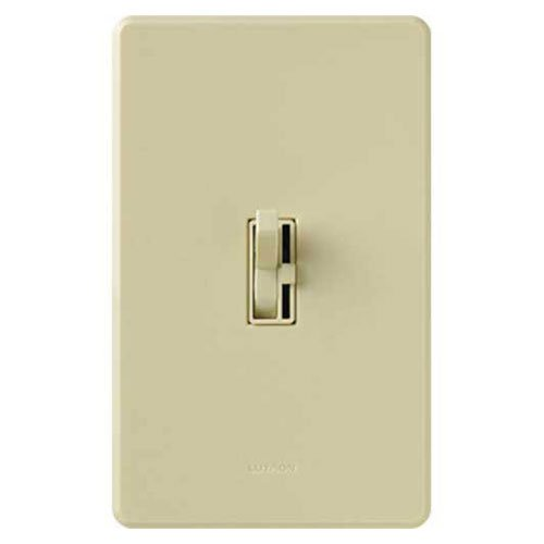 Lutron Toggler C.L Dimmer Switch for dimmable LED, Halogen and Incandescent Bulbs, Single-Pole or 3-Way, AYCL-153P-IV, Ivory