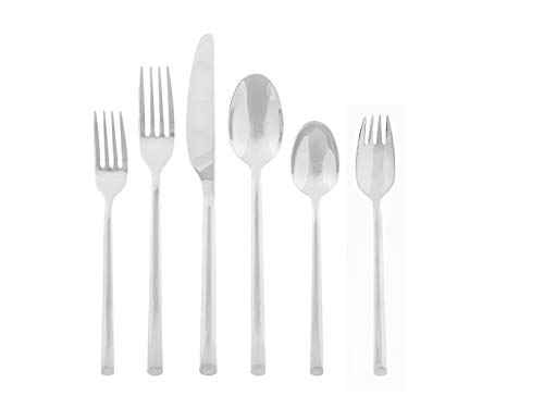 (Cambridge Silversmiths Inc 343747CSPB15R Cambridge Silversmiths Seyon Mirror 18/0, 39 Piece Flatware Set, Service for 6 Silver)