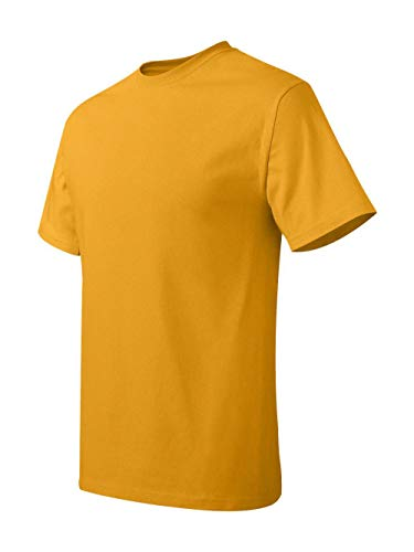 - Hanes TAGLESS T-Shirt,Gold,XXXX-Large