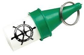 -Visibility Floating Key Buoy with Dry Storage, Green ()