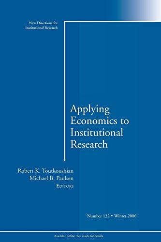 Apply Economics to Institutional Research