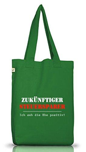 ShirtStreet Jutebeutel Earth Positive Steuersparer Junggesellenabschied Gruppen Kostüm Moss Green Mp5kxII