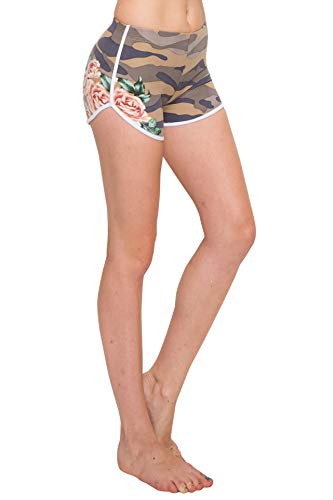 ALWAYS Women Camo Yoga Shorts - Premium Buttery Soft Stretch Short Pants 1960 M
