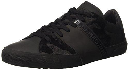Bikkembergs Rubb-er 748 Low Shoe M Suede, Sandalias con Plataforma para Hombre Nero (Camouflage Black)