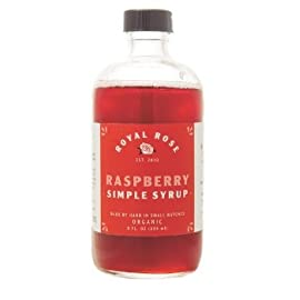 Royal Rose, Simple Syrup Raspberry Organic, 8 Ounce 15 This 100% Organic Syrup Hearkens Back To Pre-Prohibition Days When Raspberry Syrup Was A Bar Staple. The Ingredients Are Simply: Filtered Water, Organic Raspberries, And Fair-Trade Organic Sugar. Made By Hand In Small Batches Made With Organic Ingredients