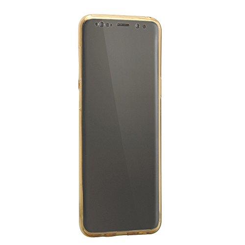 Cubierta Protectora Funda para Samsung Galaxy S9 (5.8 pulgadas), Bonice TPU Bumper Carcasa de silicona Handy Cover Protectora 360 Grados Full Body Brillo brillante de Bling Carcasa Caso completo de pr B-Oro