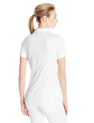 Under Armour Ladies Zinger Sleeveless Polo Shirt White