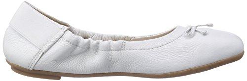 Caprice 22163 - Bailarinas de cuero para mujer blanco - Weiß (WHITE/100)