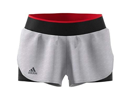 adidas Women's Barricade Tennis Shorts (XS, Grey/Black)