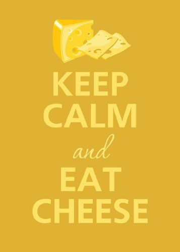 (Rectangle Refrigerator Magnet - Keep Calm and Eat Cheese)