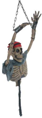 BOS Halloween Hanging Spinning Pirate Skeleton Prop -