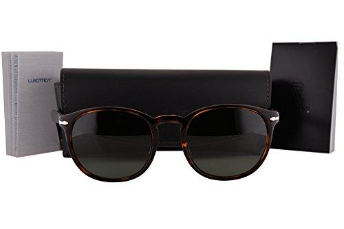 Persol PO3157S Sunglasses Havana w/Green Lens 2431 PO - Sunglasses Persol Po 2803s