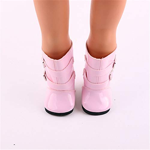 XuBa Doll Shoes, Pink Boots for 18 inch American Girl for sale  Delivered anywhere in USA
