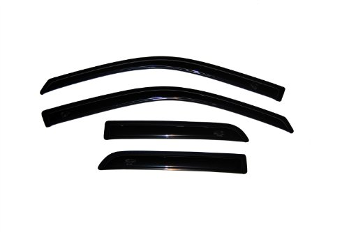Auto Ventshade 94101 Original Ventvisor Side Window Deflector Dark Smoke, 4-Piece Set for 2009-2018 Dodge Ram 1500; 2019 Ram 1500 Classic | Fits Quad Cab