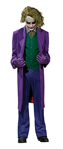 Batman Dark Knight Joker Grand Heritage Adult Mens Costume Movie Halloween Party, X-Large(46-50)