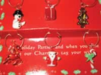 Wine Glass Charms - Set of 6 Assorted Christmas Motifs