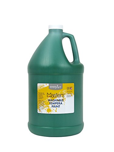- Handy Art Little Masters Washable Tempera Paint Gallon, Green