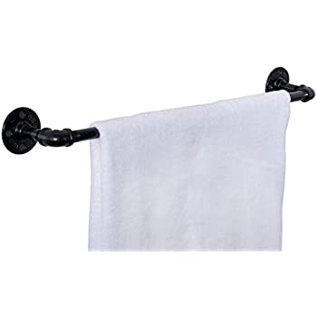 Amazoncom Industrial Pipe Towel Bar Fixture Set By Pipe Decor - Industrial bathroom supplies