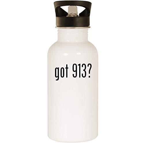- got 913? - Stainless Steel 20oz Road Ready Water Bottle, White