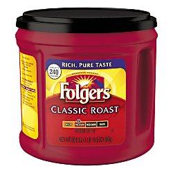 Folgers Classic Roast Ground Coffee, Medium Roast, 30.5 Ounce ()