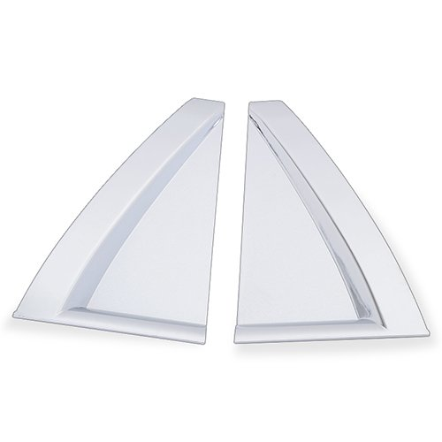 Car Rear Door Window Triangle Trim Cover Kit Decoration For KIA Sportage 2007 2008 2009 ABS Chrome 2PCS/SET