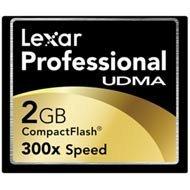 (Lexar Professional UDMA 300x 2GB CompactFlash Memory Card CF2GB-300-380 )