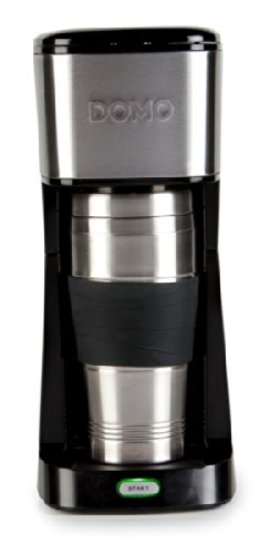Domo-DO437K-Drip-coffee-maker-04L-Negro-Acero-inoxidable-Cafetera-Independiente-Drip-coffee-maker-De-caf-molido-Negro-Acero-inoxidable-Acero-inoxidable