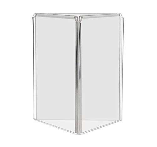 Marketing Holders 3 Sided Acrylic Table Tent Frame Advertisement Display Stand 5