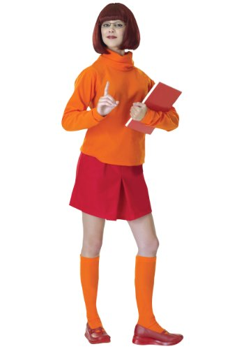 Creative Halloween Costumes For Couples (Standard Velma Costume - Adult Scooby Doo)