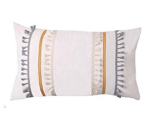 Learn More About Flber Tasseled Sham Set Boho Cotton Pillow Covers,18.9in x29.1in,Set of 2