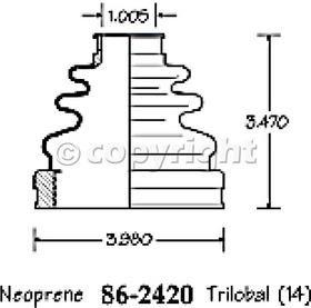 Empi 86-2420-D CV Boot Kit