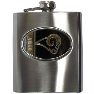 NFL Hip Flask - St. Louis - Stainless Steel Louis Flask Rams