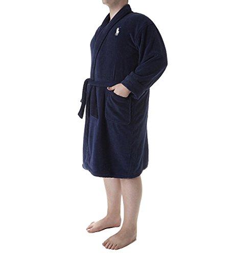 Ralph Lauren Big & Tall Men's Terry Kimono Robe Navy 3XL/4XL (Big And Tall Mens Robes)