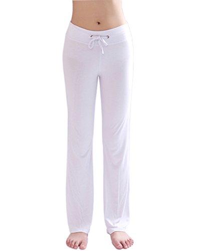 Hoerev Women's Soft Modal Slimming Lounge Pants Yoga Pants Pajama - White Womens Sweatpants