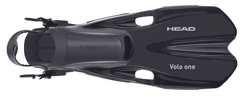HEAD Mares Volo One Adjustable Snorkeling Fins, Black, Large/X-Large
