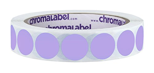 ChromaLabel 3/4 inch Removable Color-Code Dot Labels | 1,000/Roll (Lavender)