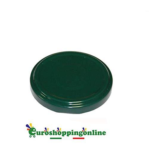 Euroshoppingonline 100 Tappi Verde 43 mm Capsule per barattoli barattolini monoporzione in Vetro 30 40 ml