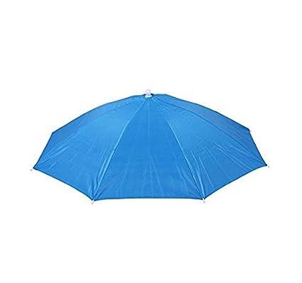 JER Sombrero de Paraguas de 61 cm de diámetro Banda elástica para Pesca Sombrero Paraguas para