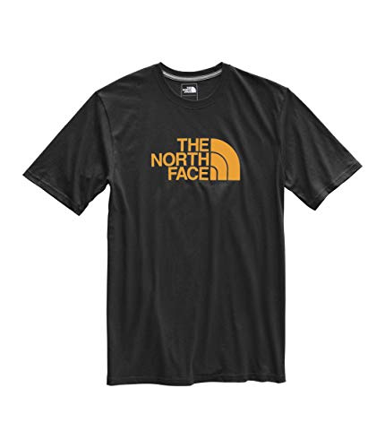 (The North Face Men's Short Sleeve Half Dome Tee, TNF Black/Citrine Yellow, Size)