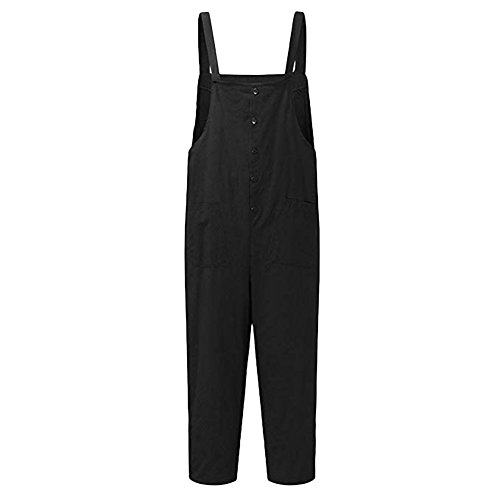 蜂支配的土器CA-TING レディース パンツ ジャンプスーツ ビブパンツ コットン カジュアル ゆったり ポケット付き 森ガール 無地 おおきいサイズ