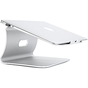 Laptop Stand - LiMENO Aluminum Cooling Computer Stand: [UPDATE VERSION] Stand, Holder for Apple Macbook Air, Macbook Pro, All Notebooks, Sliver