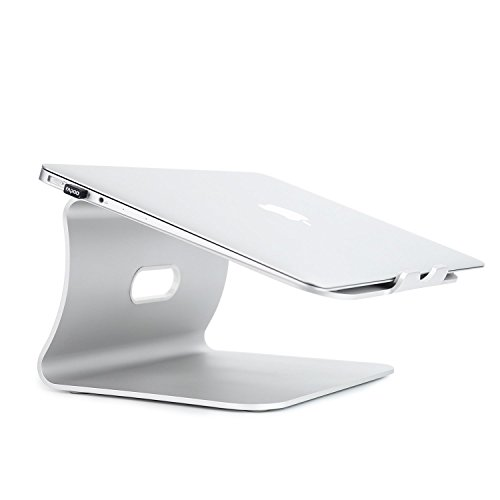 Macbook Stand, LiMENO Aluminum Laptop Desktop Stand for Apple Macbook and All Notebooks,Silver