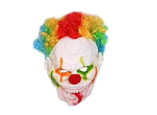 Mas Querade Halloween Party Big Mouth Long Tongue Clown Shape Mask Funny Face Mask Cosplay Party Costume Props Horrific Performance Mask Party Supplies,A,A -
