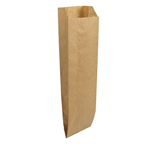 Duro ID# 40036 Quart Liquor Bag 35# Natural Kraft 500pk 4-1/2 x 2 -1/2 x 16 ()