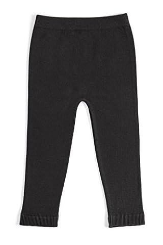 EMEM Apparel Unisex Boys Girls Baby Toddler Medium Weight Seamless Cotton Full Ankle Length Leggings Black - Personalized Free Toddler Tee
