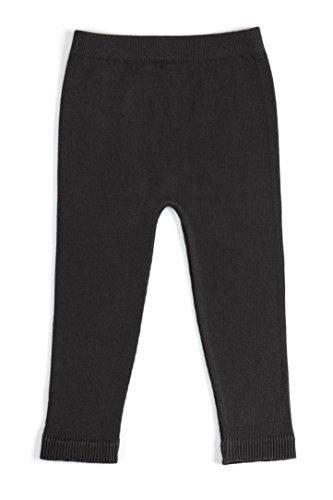 EMEM Apparel Unisex Boys Girls Baby Infant Medium Weight Seamless Cotton Full Ankle Length Leggings Black 12-18 Months