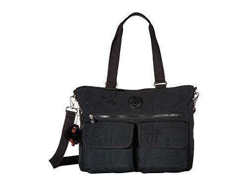 (Kipling Pia Tote Bag, Removable Crossbody Strap, Zip Closure, Black Tonal)